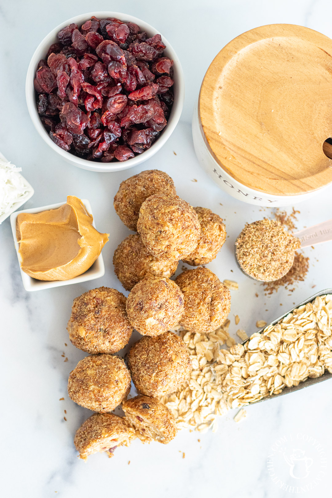 Honey Oat Power Balls ingredients