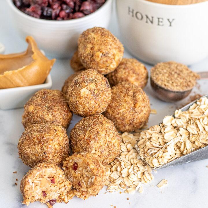 Honey Oat Power Balls