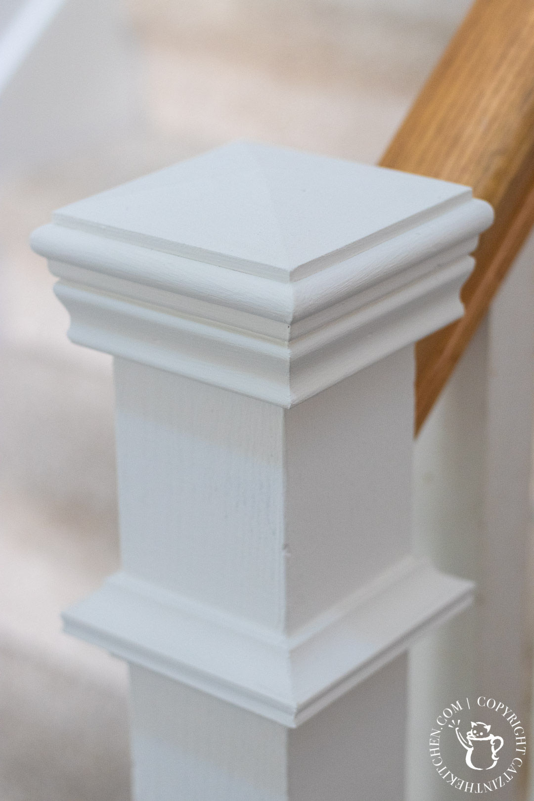 painted newel post cap
