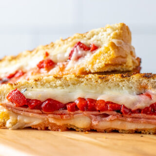 Ham and Roasted Red Pepper Panini