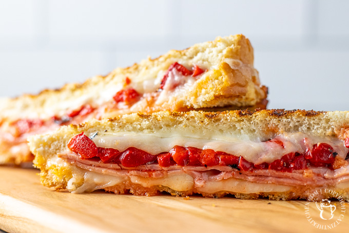 Ham and Roasted Red Pepper Panini recipe
