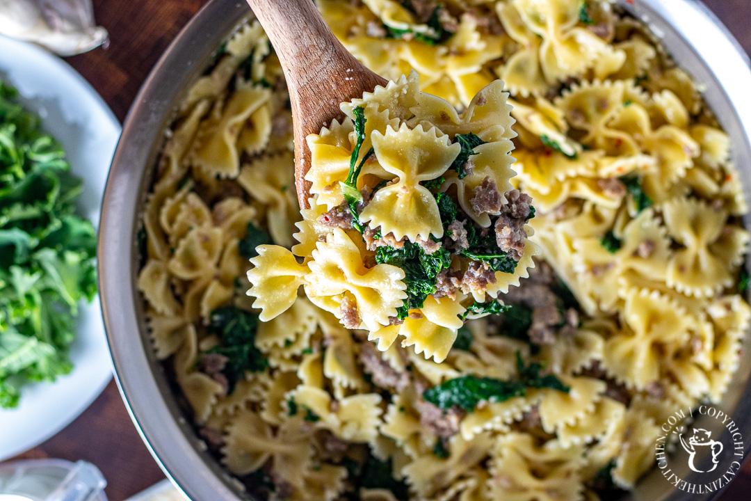 spoonful of Kale & Sausage Pasta