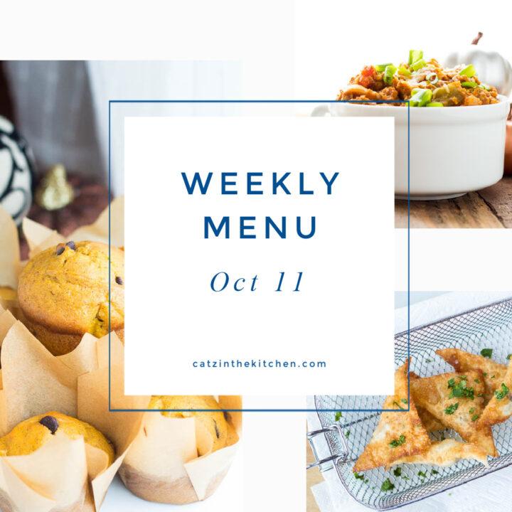 Weekly Menu for the Week of Oct 11